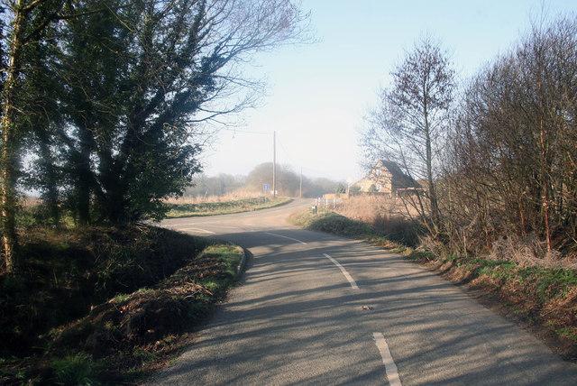 Snettisham Minor road junction