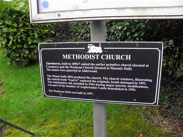 Information board, Fivemiletown Methodist Church