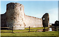 TQ6404 : Pevensey Castle 1989 by Roy Hughes