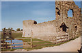 TQ6404 : Pevensey Castle in 1989 by Roy Hughes