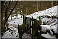 SE0025 : Gate on footpath through Martin Wood, Mytholmroyd by Phil Champion