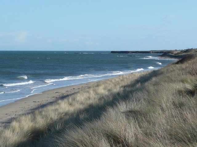 The beach near Annstead Farm