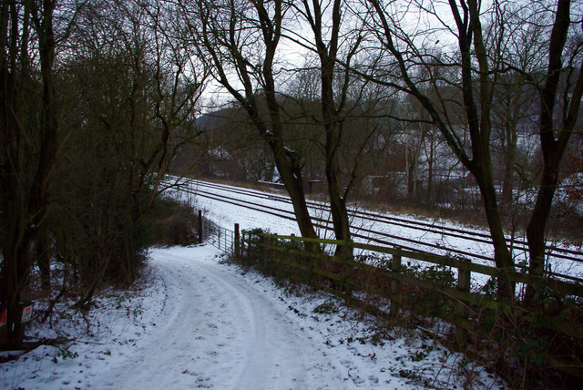 Roger Gate and the Caldervale railway line, Mytholmroyd