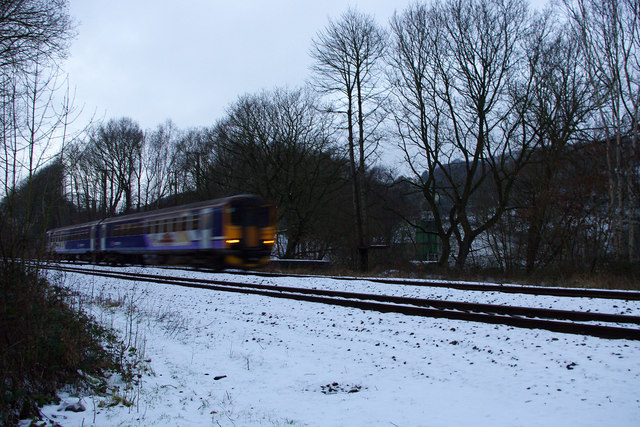 A passing train on the Caldervale Lane