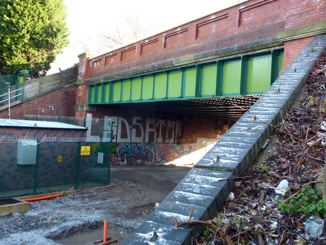 Mauldeth Road West railway bridge, Chorlton cum Hardy