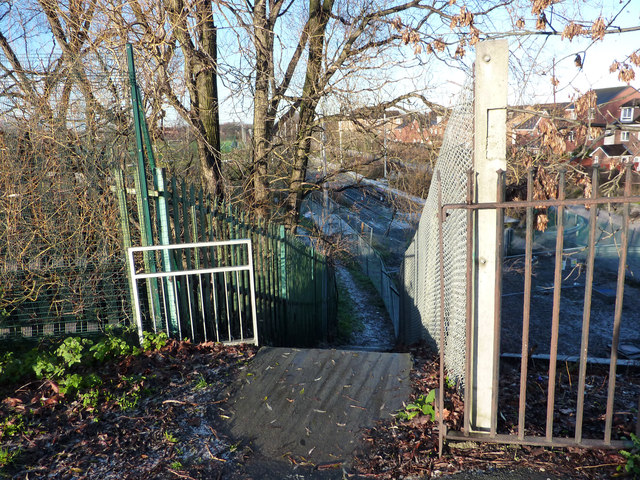 The top of Twenty-Seven Steps, Mauldeth Road West, Chorlton