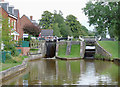 SJ7659 : Wheelock Locks No 62 at Malkin's Bank, Cheshire by Roger  Kidd