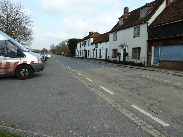 Northwards on the A29 at Ockley