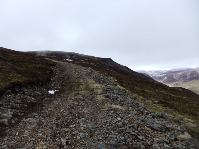 Track on Carn a' Chlamain