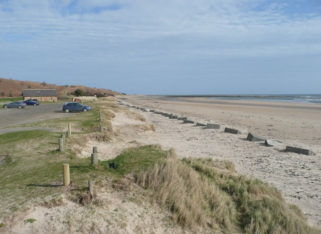 Beach car park at Alnmouth
