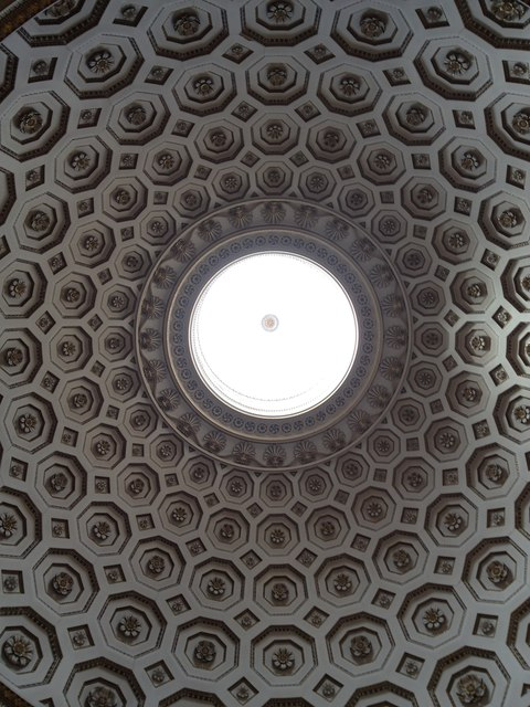 The domed ceiling of the Ballroom, Kedleston hall