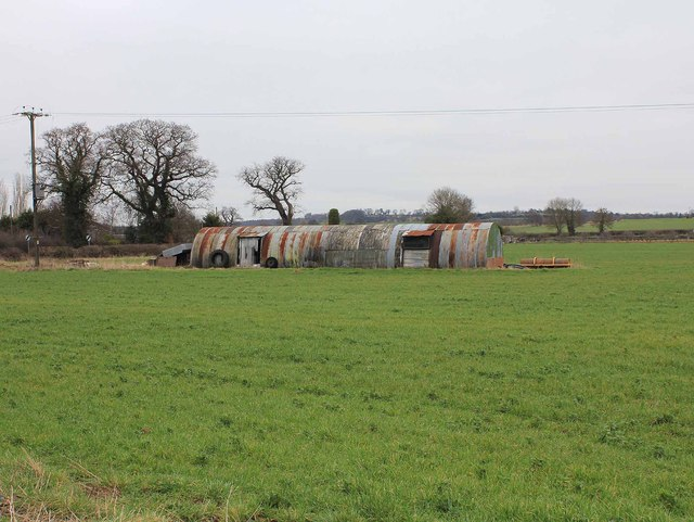 Corrugated iron sheds off Bidford Road