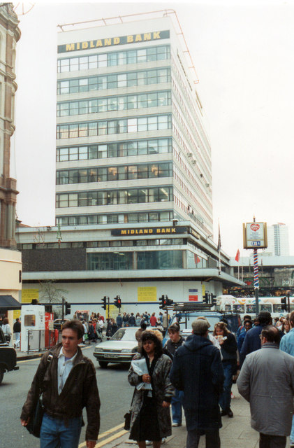 Midland Bank New Street, Closed for refurbishment. 1990