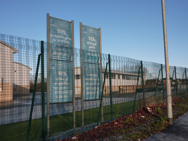 Banners at Chorlton High School