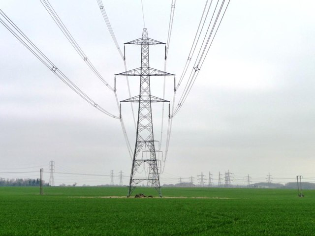 Pylon seen from the Great North Road