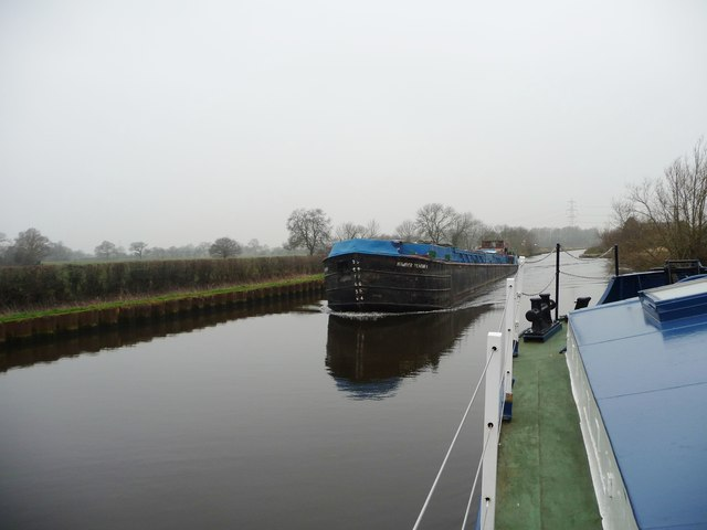 Barges Passing On The Aire And Calder Christine