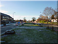 SJ8292 : Central reservation of Mauldeth Road West, Chorlton by Phil Champion