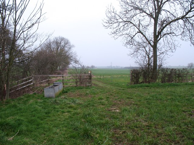 Footpath junction near High Brockholme