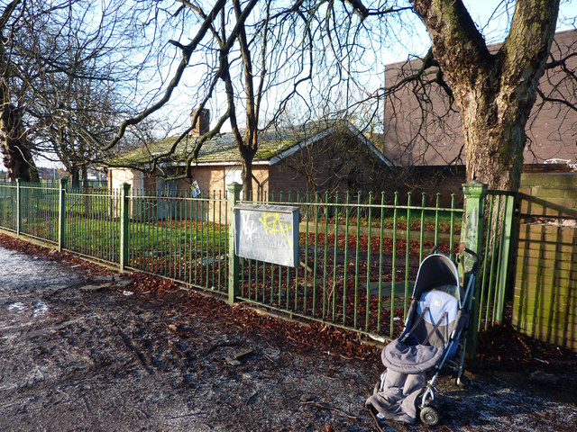 Disused caretaker's bungalow and an abandoned pushchair