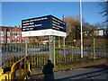 SJ8292 : Signs at Chorlton Park Adult learning Centre, Mauldeth Road West by Phil Champion