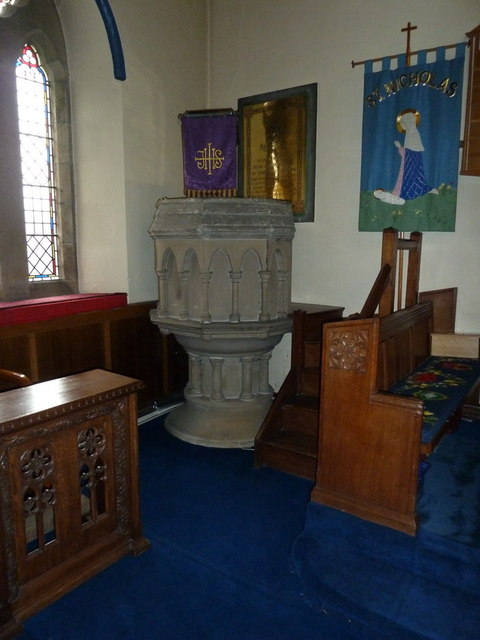 The Parish Church of St Nicholas, Pulpit