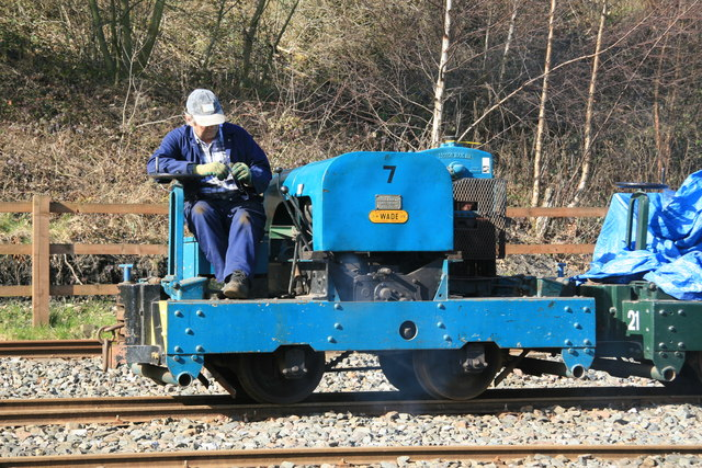 Apedale Valley Light Railway - blue Simplex