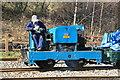 SJ8248 : Apedale Valley Light Railway - blue Simplex by Chris Allen