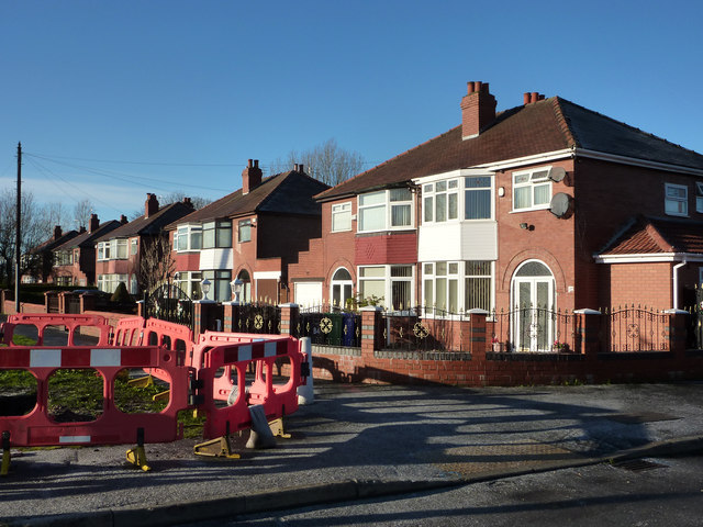 1930s houses at the end of Hardy Lane, Chorlton