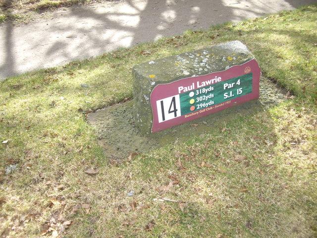 Fourteenth Tee, Banchory Golf Club