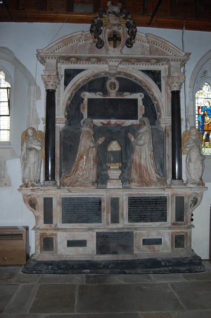 Memorial to William and Anne Thomas, All Saints', West Dean