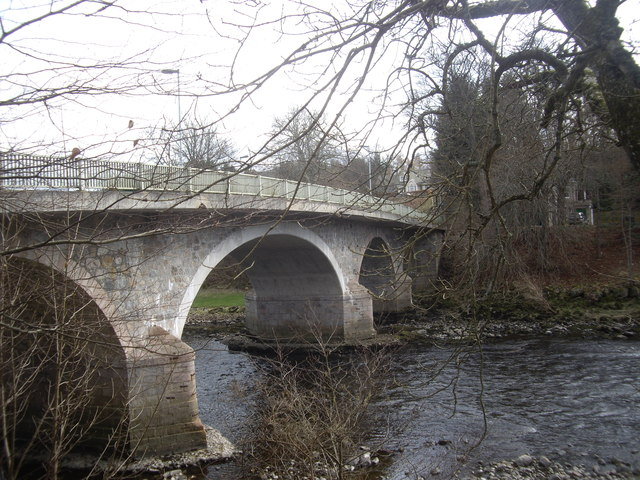Upstream face of Bridge of Dee, Banchory