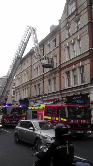 Fire engines in Fulham Road Chelsea