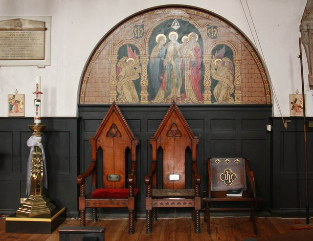 St Mary with All Saints, Rotherhithe - Wall painting