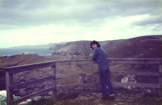 Looking towards Tintagel Haven, October 1983