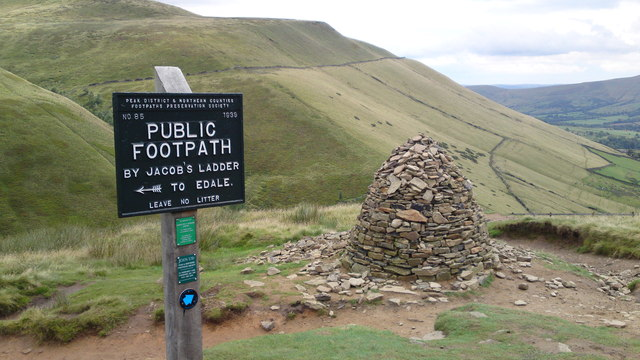 Cairn above Jacob's Ladder, Edale
