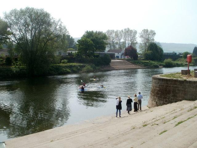 Wye kayakers, Monmouth