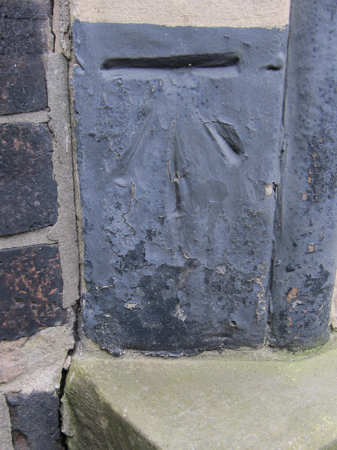 Bench mark and bolt on St Martin's church
