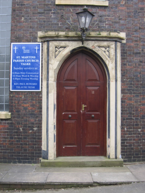 The west door of St Martin's church