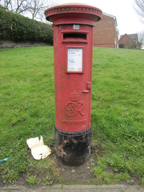 A George VI postbox on Leak Road, Talke