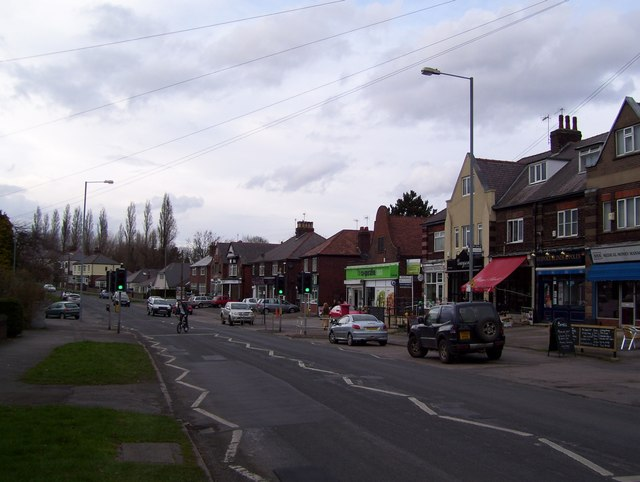Shops on Hutcliffe Wood Road in 2012