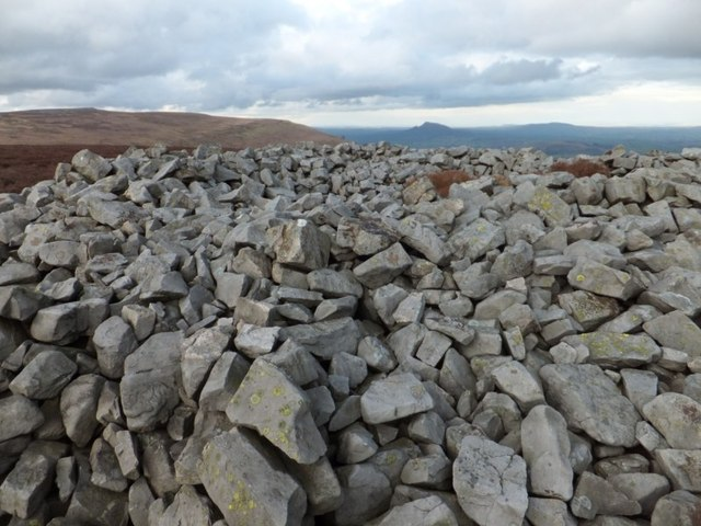 View over top of Carn y Defaid