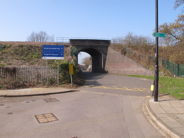 Greenford Branch Line bridge at Perivale Park