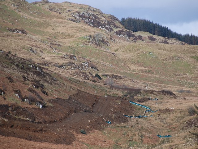 West Loch Awe Timber Haul Route under construction