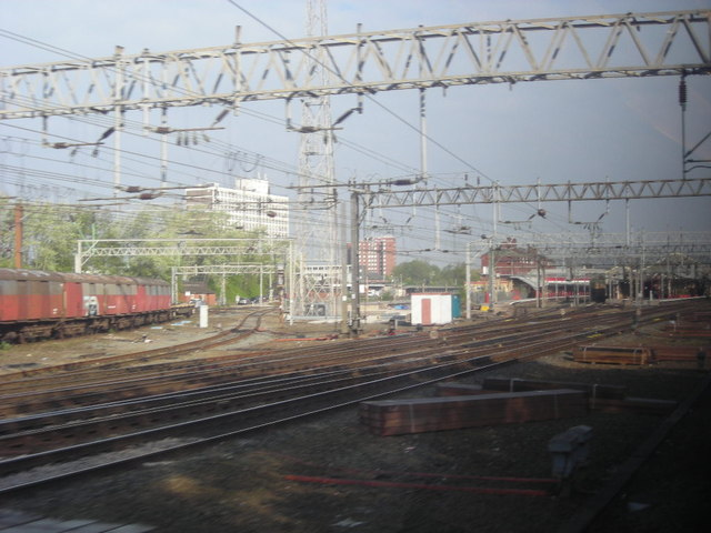 Crewe station: southern approach
