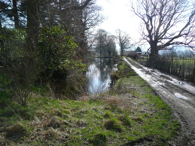 Mill Dam and sluices at Broughton Farm