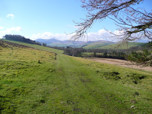 Looking back to Broughton on the John Buchan Way