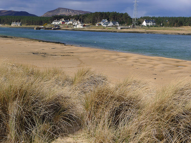 Sandy bay within the dunes