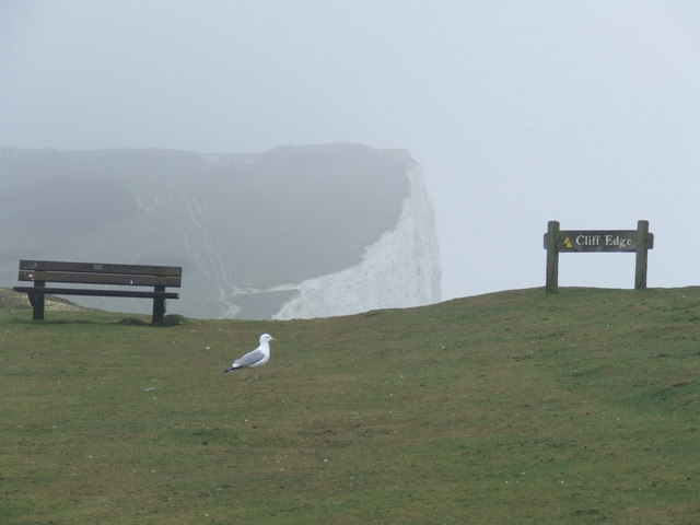 Cliff edge near Seaford