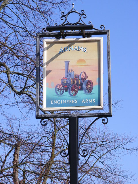 Engineers Arms Public House sign