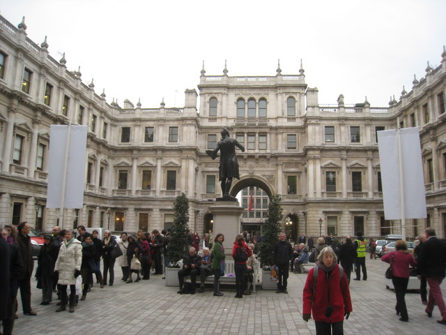The courtyard of Burlington House